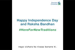 Here For New Traditions | Standard Chartered